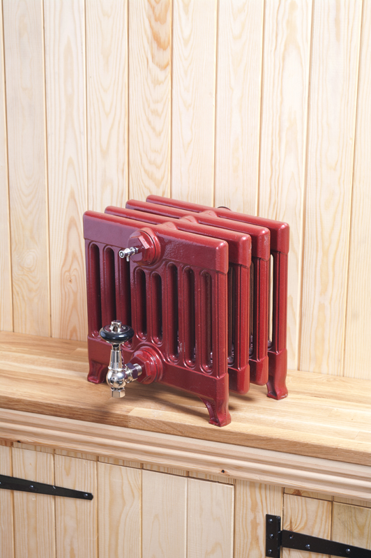 Cast Iron Radiators red
